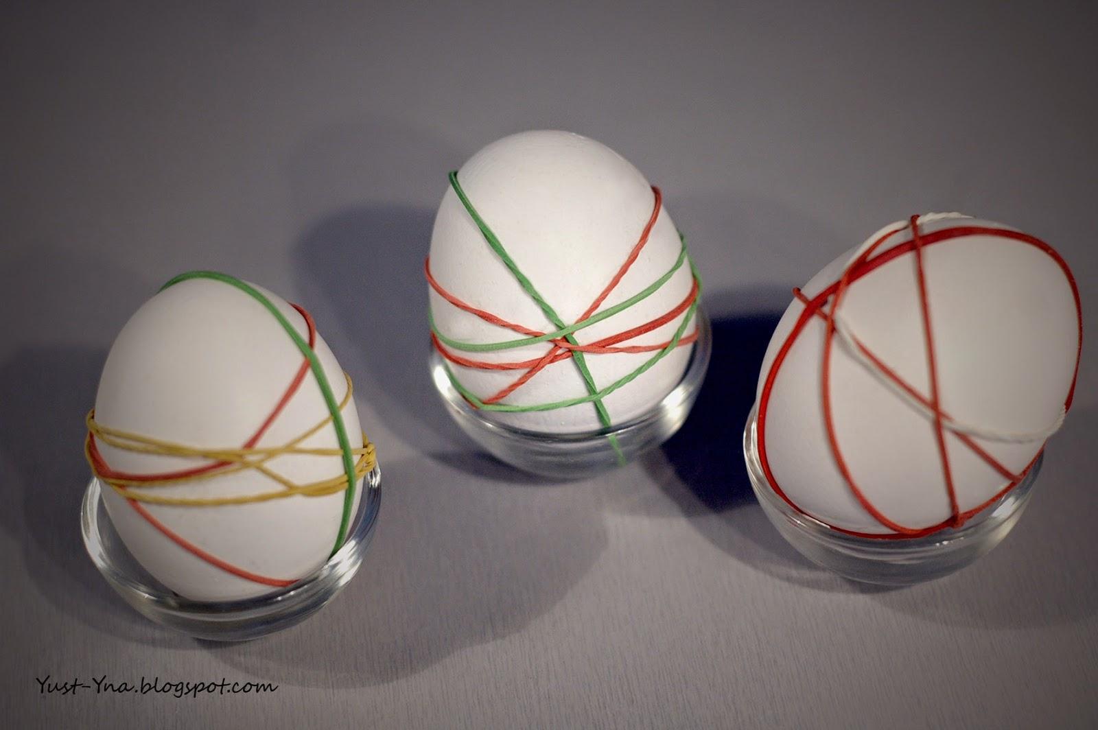 Pisanki z gumek recepturek - DIY