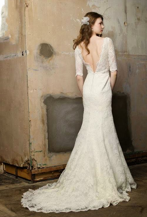 Backless lace wedding dresses kleinfeld uk concepts ideas for Kleinfeld wedding dresses with sleeves