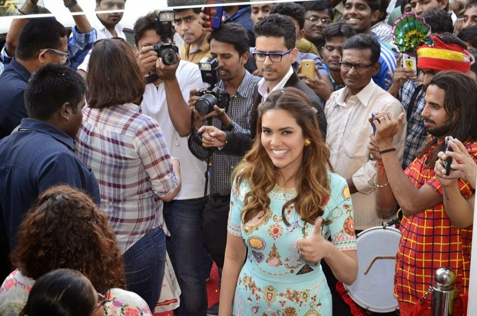 Actress Esha Gupta during the inauguration of a new Bata store in Mumbai