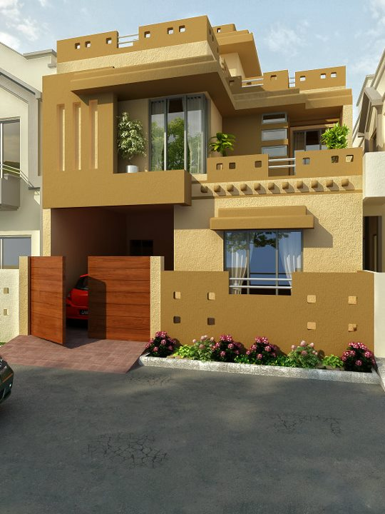 Bahria town front elevation 8 marla home designs joy for 5 marla house modern design