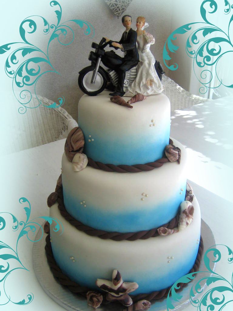 Delana S Cakes Fun Beach Themed Wedding Cake