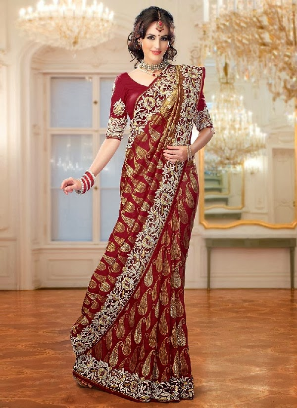 latest indian wedding sarees - photo #27