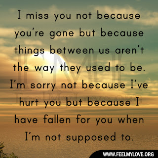 I miss you not because you're gone
