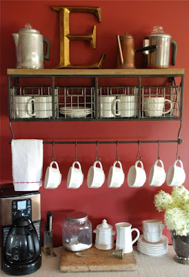 Coffee bars on pinterest home coffee bars home coffee stations - The Vintage Wren Home Coffee Bar