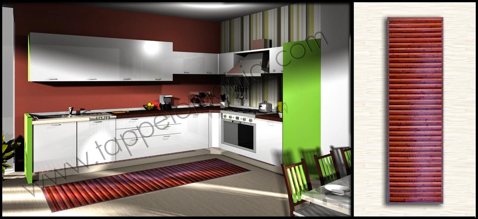 Tappeti bagno cucina in bamboo tappetomania - Tappeti per cucina ...