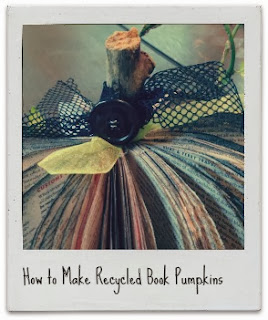 how to make a recycled book pumpkin - so cute!