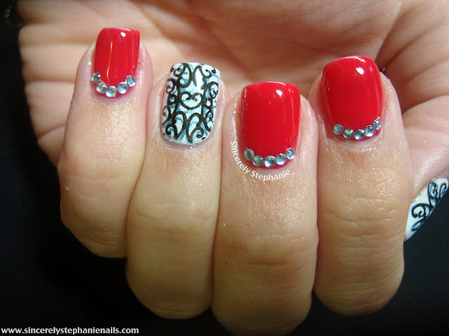bundle monster double stamping nail art