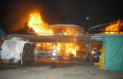 "INCENDIO EN EL MERCADO ""JAMAICA VIVE"""