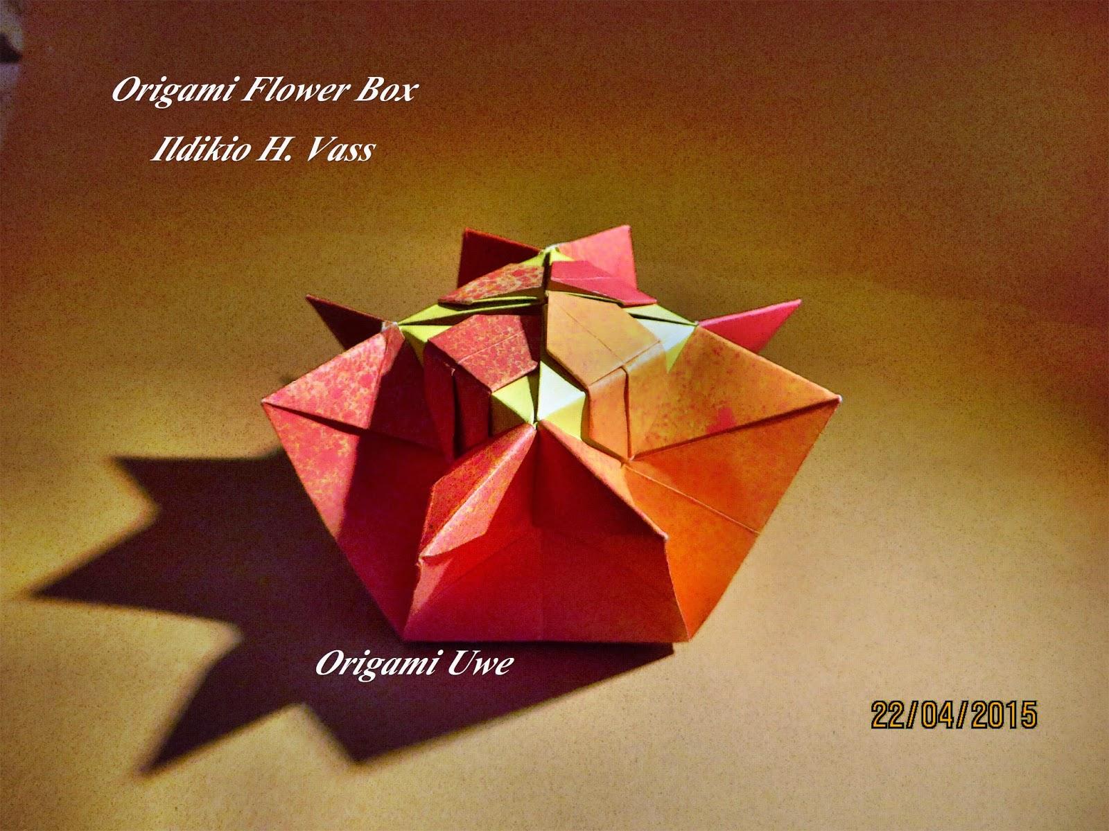 Origami Fleurogami Und Sterne Origami Flower Box