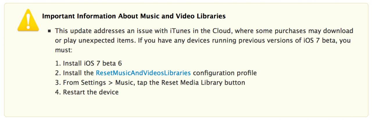 iOS 7 Beta 6 Download Problem