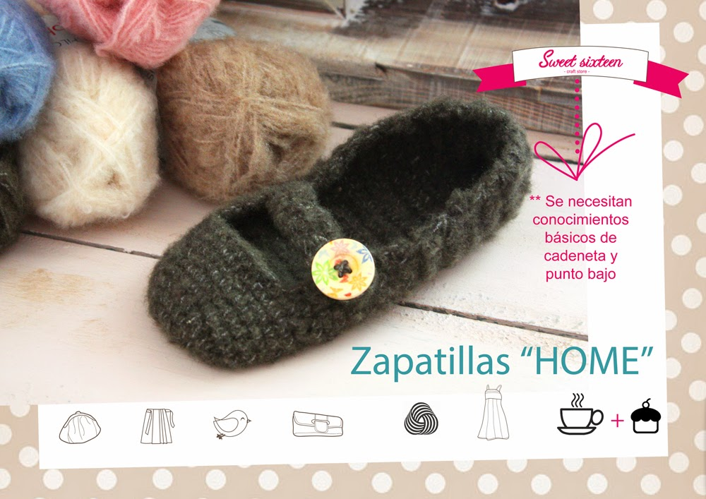 Taller monográfico Zapatillas Home Sweet sixteen craft store