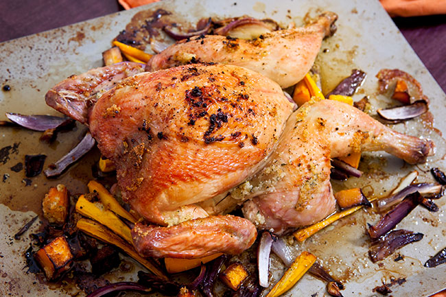 Fall Inspired Roast Chicken / Jennifer Chong