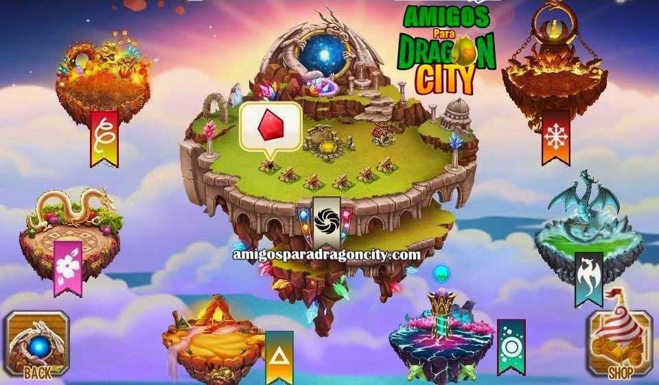 imagen delos nuevos habitats especiales flotantes de dragon city