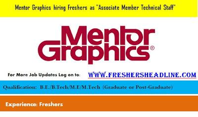 Mentor Graphics hiring Freshers