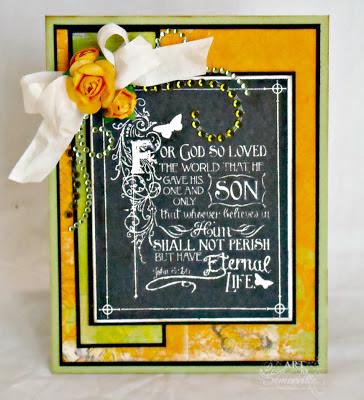 Our Daily Bread Designs Stamps Chalkboard - John's.  Designer Lisa Somerville