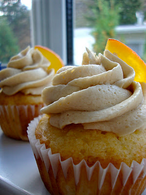 Indulge: Peach Cupcakes with Brown Sugar Frosting