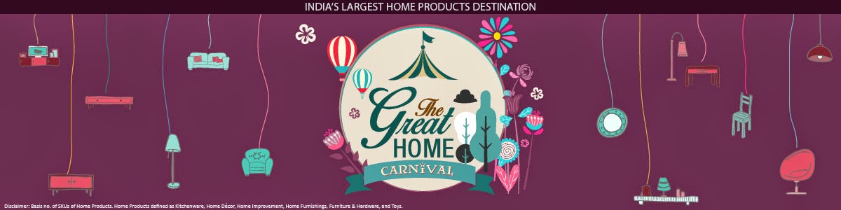 Snapdeal Home Carnival offer:Get upto 60% off in Home and furnishing