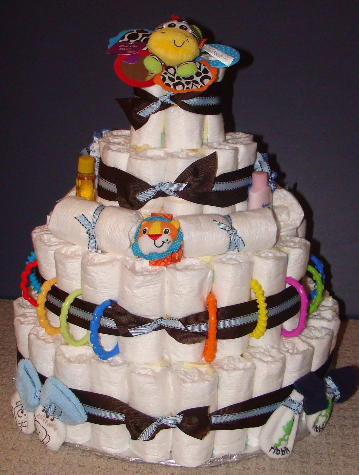 Scrapaholic Baby Shower diaper cake & paper purses