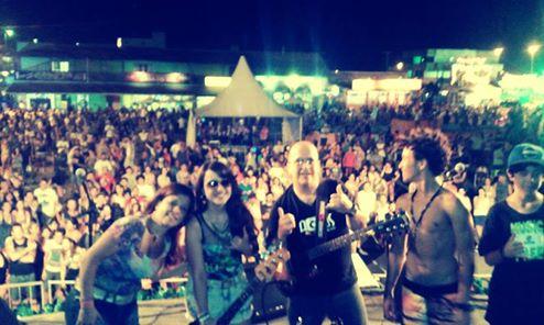 Show na Concha Acústica de Cidreira/RS.