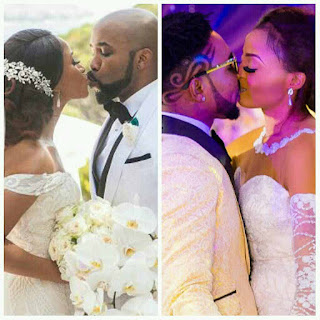 Banky W and Adesua Etomi kissing VS Oritsefemi and Nabila Fash kissing