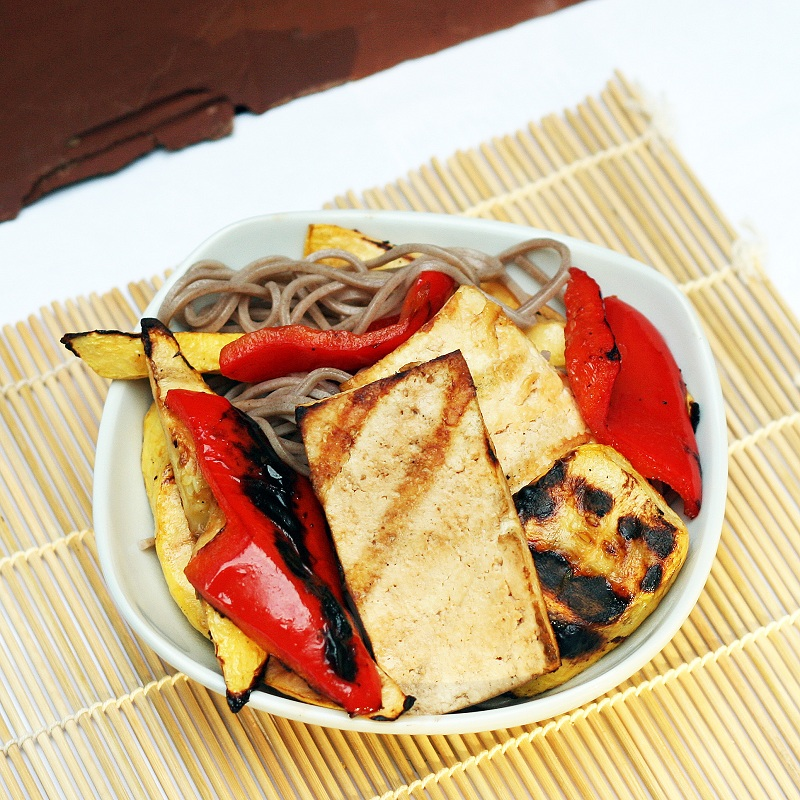Mix it Up: Grilled Tofu and Vegetables with Soba Noodles