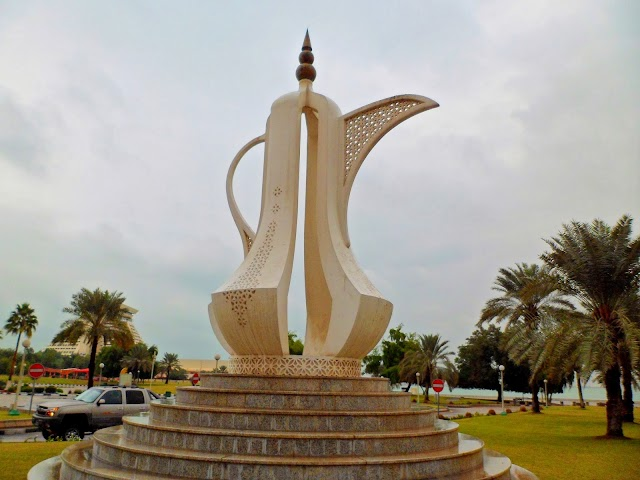 Teapot Sculpture at Eastern End of the Corniche, Doha