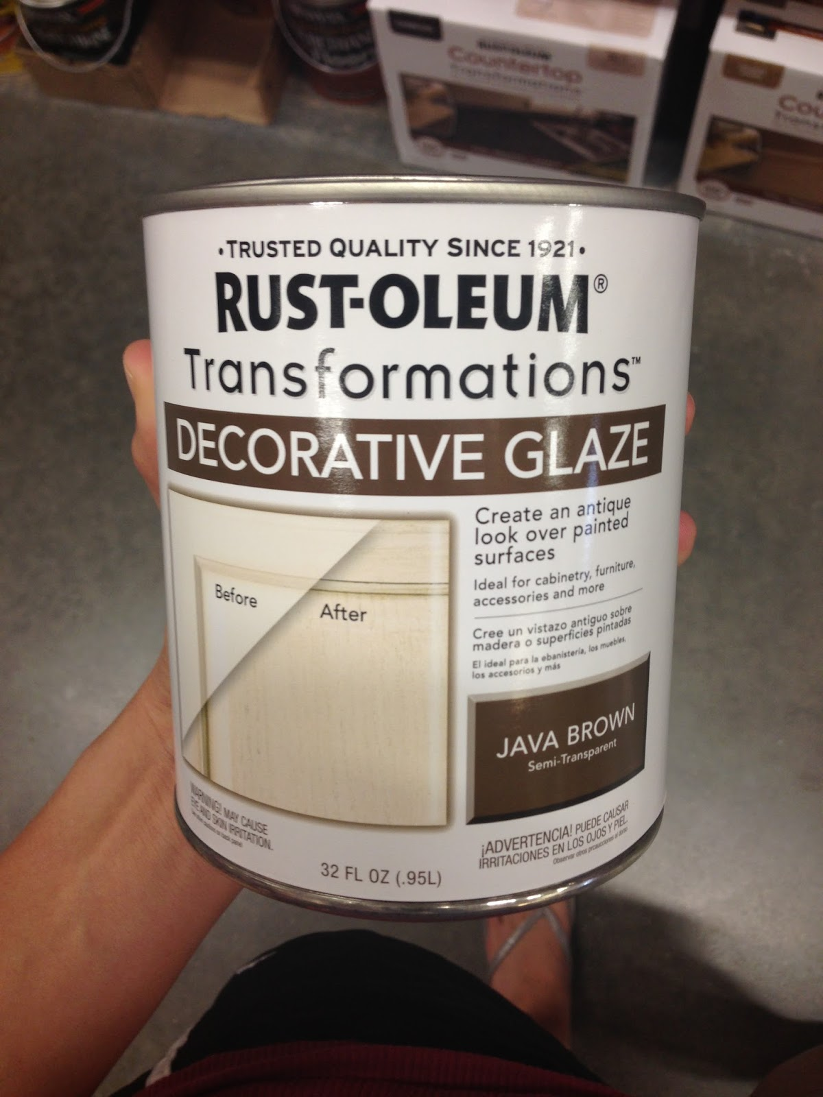Decorative Glaze Rustoleum Katie In Kansas Dining Room Hutch