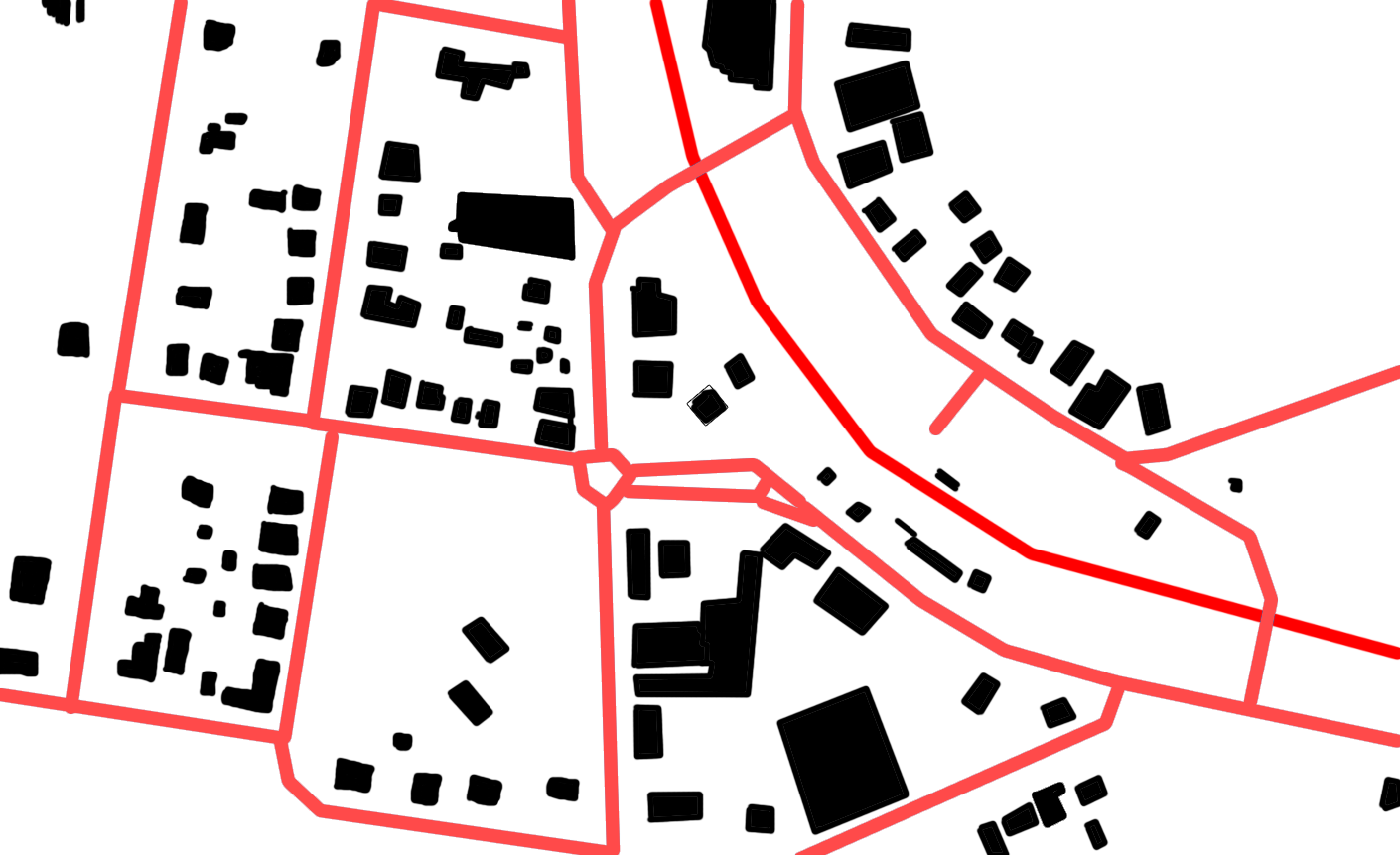 figure ground map of city centre
