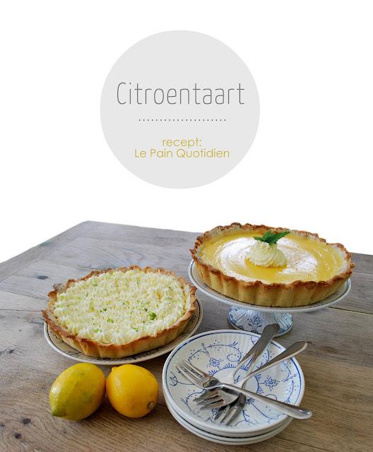 citroentaart,  Le Pain Quotidien