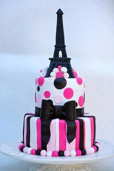 Birthday Cake Eiffel Tower