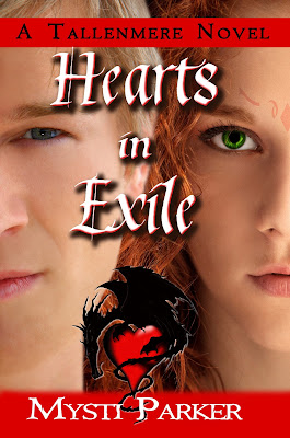 Cover Reveal: Hearts In Exile (Tallenmere #3) by Mysti Parker