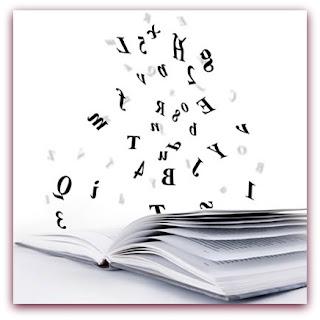 Imagem de letras saltando de um livro