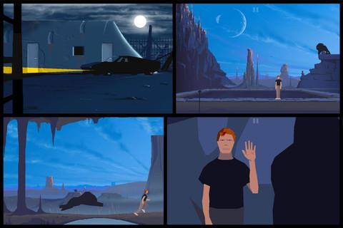 Another World para Android e iPhone pantalla