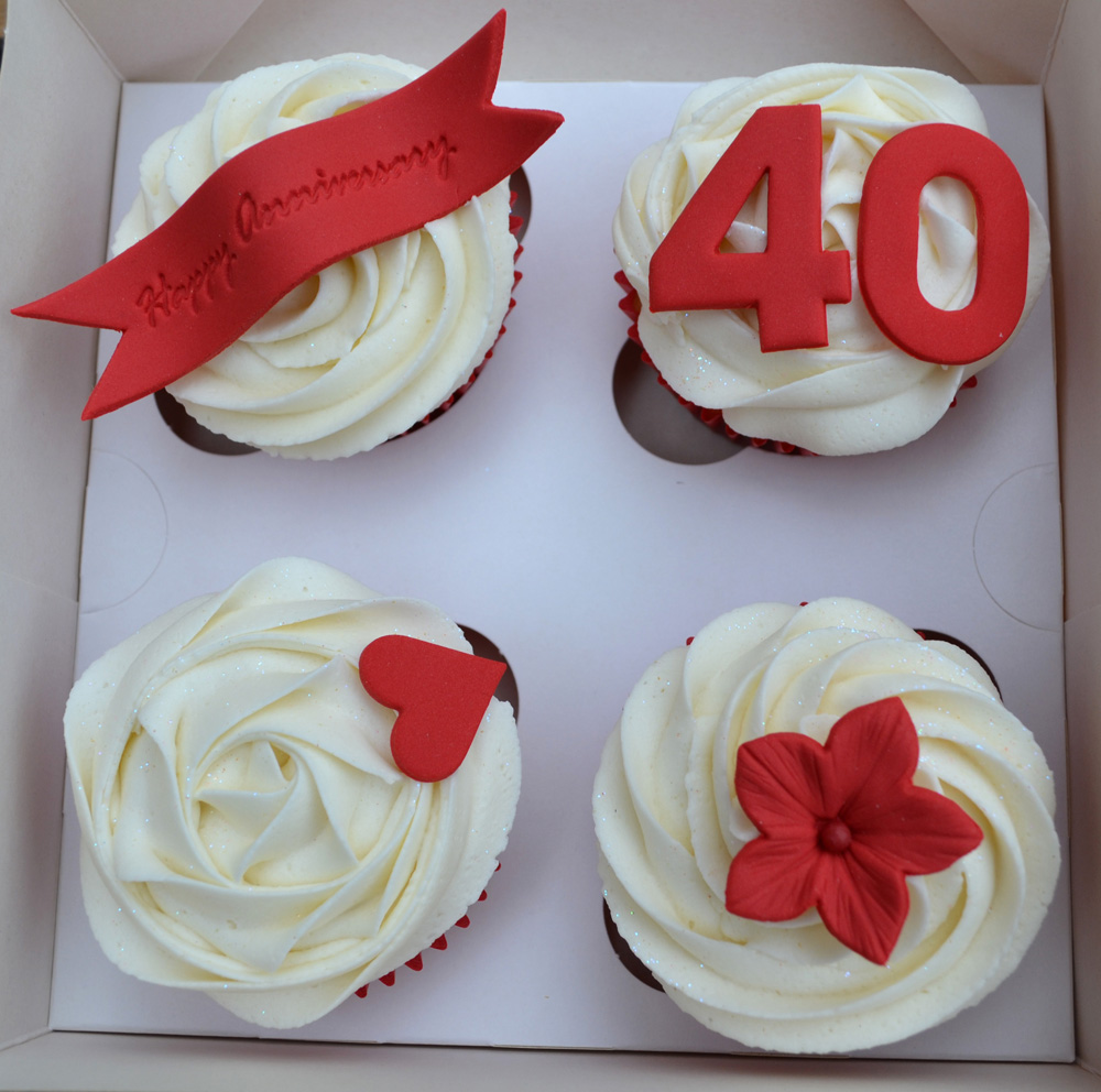Ruby Wedding Gift Box : Little Paper Cakes: Ruby Wedding Anniversary Cupcake Gift Box