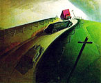 Grant Wood (44) - Death on Ridge Road (1935)