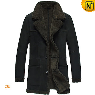 black sheepskin coat