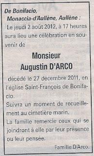 Messe Souvenirs d'Arco Augustin