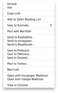 MAC app Reeder screenshot