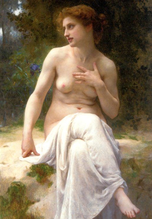 nymphe,Guillaume Seignac,beautiful painting
