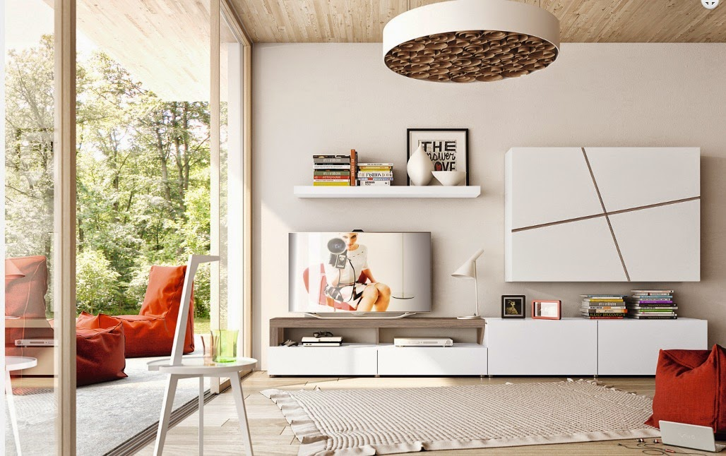 Como amueblar un salon decorar salones - Decorar muebles blancos ...