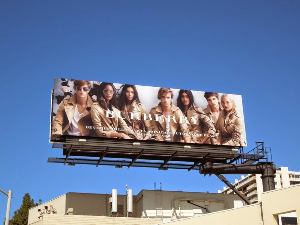 Burberry Spring 2014 trench coats billboard