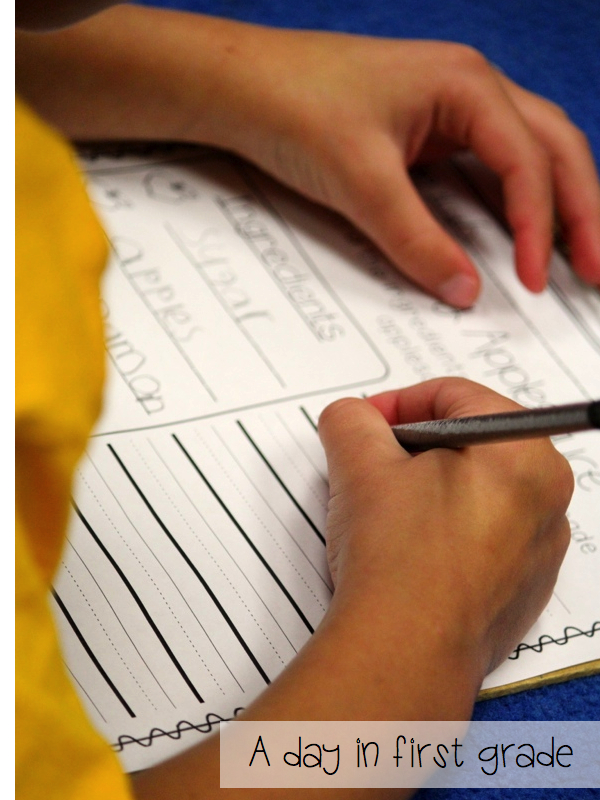 how to writing for first grade