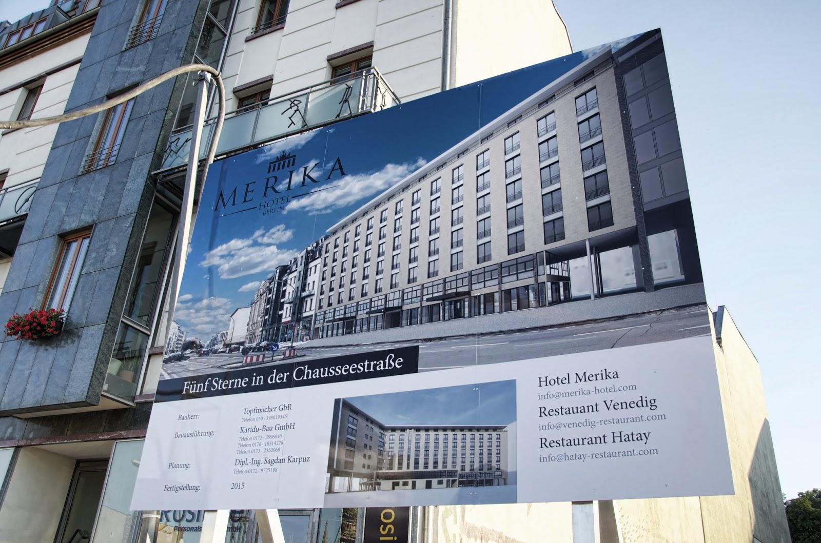 Berliner Baustellen 0070 Baustelle Merika Hotel Berlin