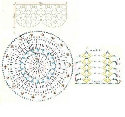 Как связать ажурный мотив круг вязание крючком для новичков со схемами 22