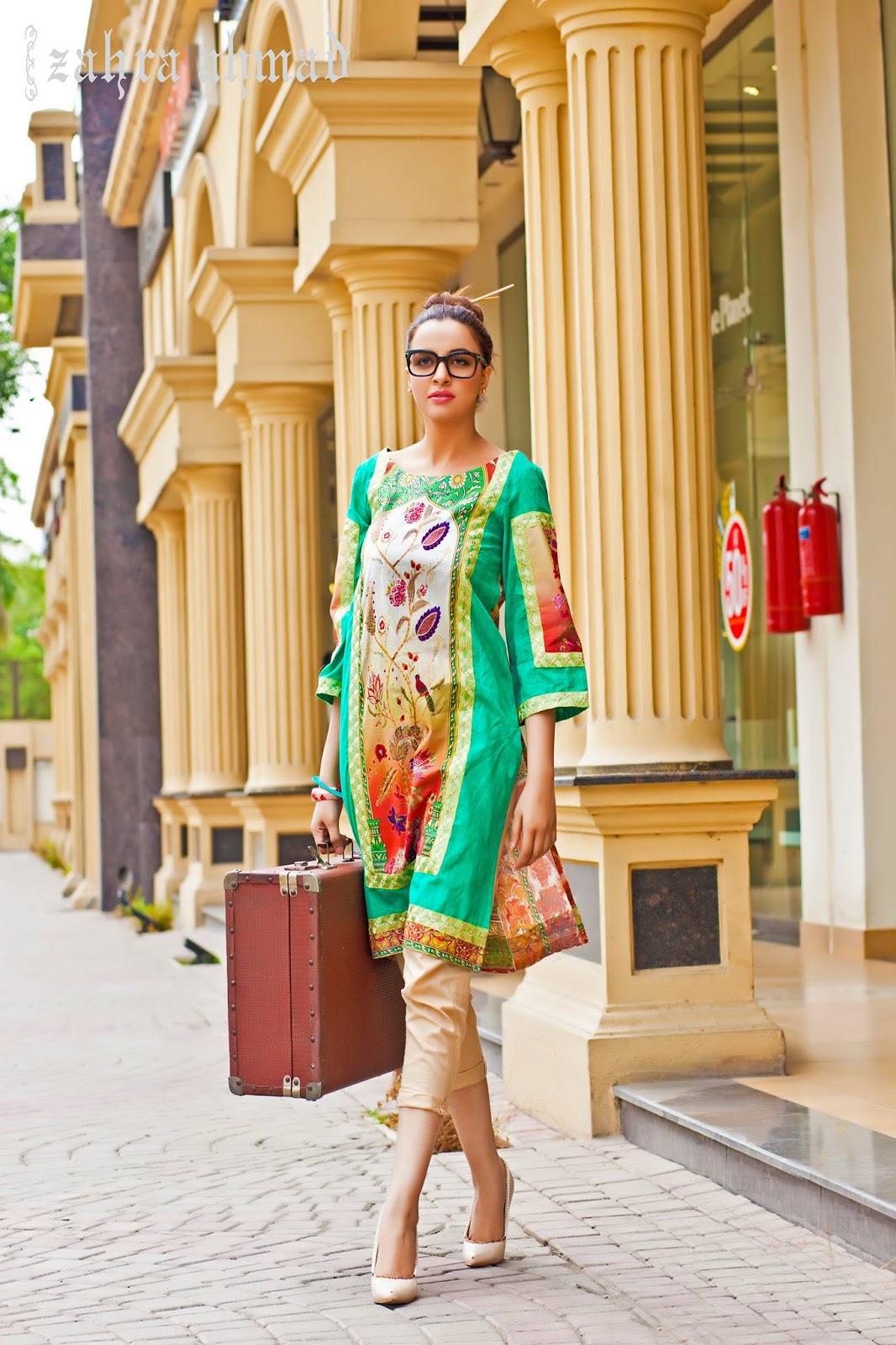 New Pakistani Girls Dresses Designs By Zahra Ahmad Just