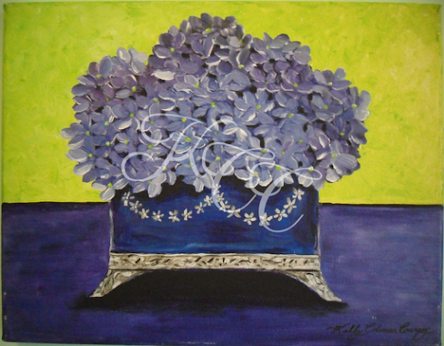 Cobalt Box of Flowers