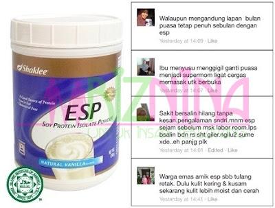 Testimonial Eksklusif Pengguna Tegar Energizing Soy Protein ( ESP )