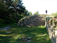 Mur i torre del Casol de Puig-castellet pel cantó nord-est