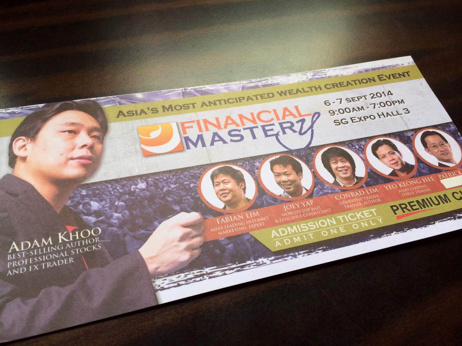 Financial Mastery 2014 Ticket