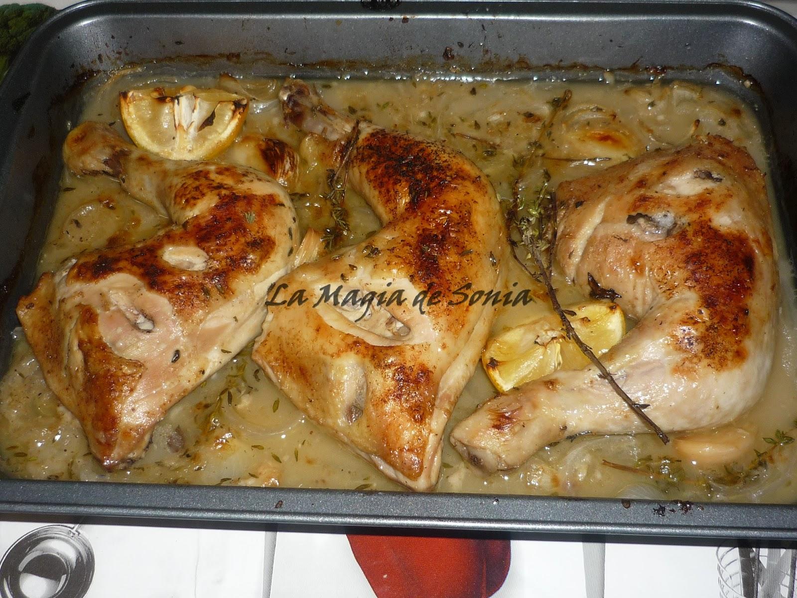 La Magia de Sonia: Pollo Asado Con Tomillo y Limón.